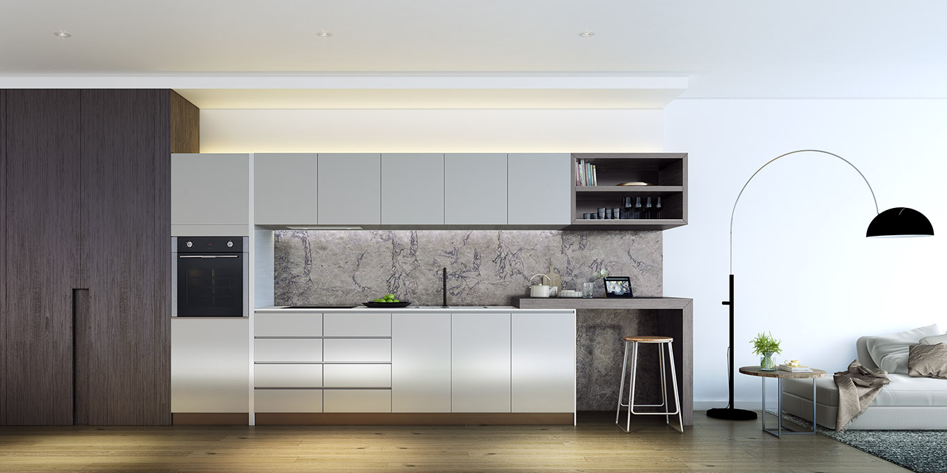 Ivanhoe Apartments kitchen design