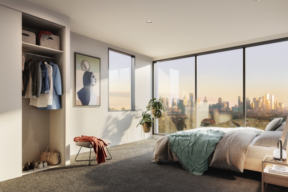 Due North Apartment Bedroom Render 1200x800
