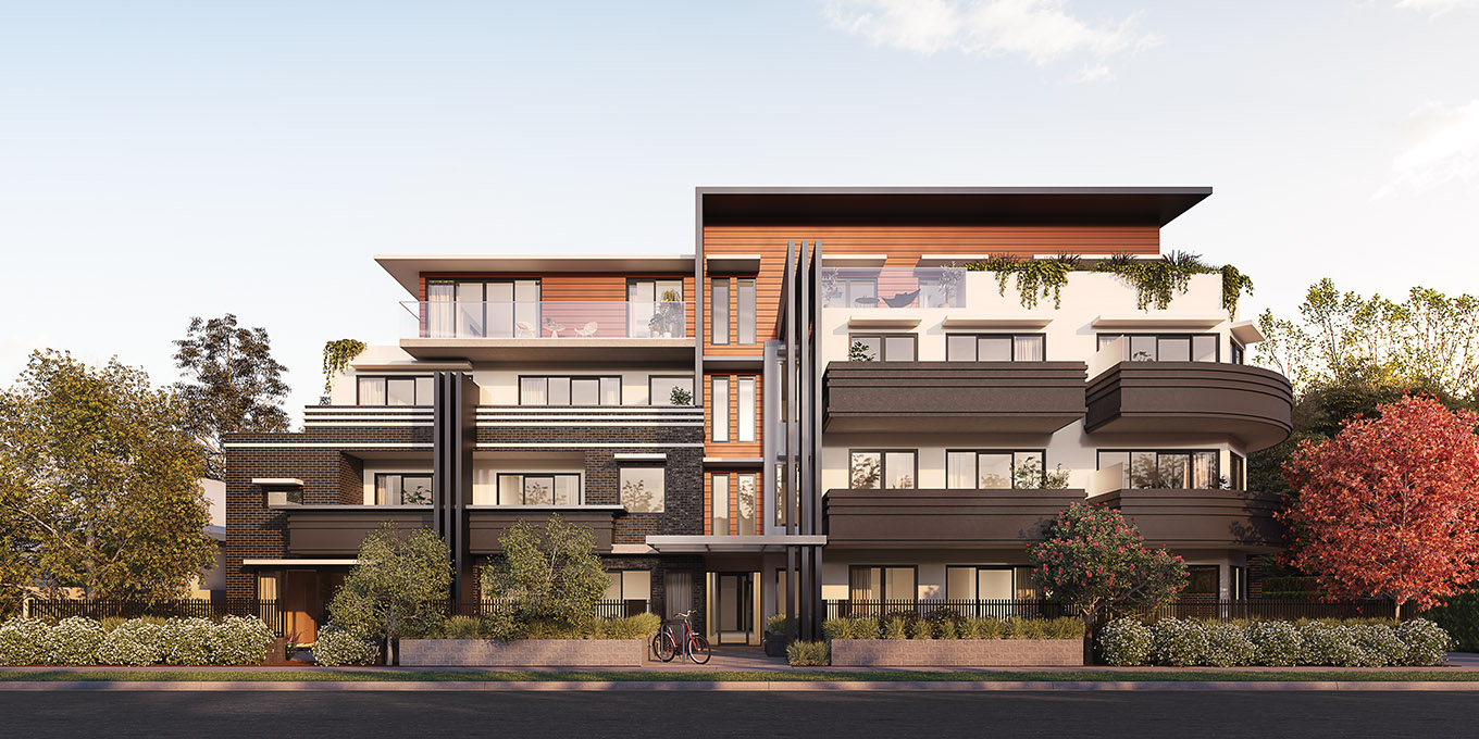 Verso apartments Northcote exterior building street view