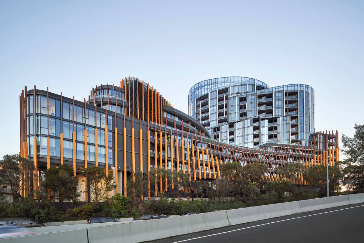 Ivanhoe Apartments External Facade Photography