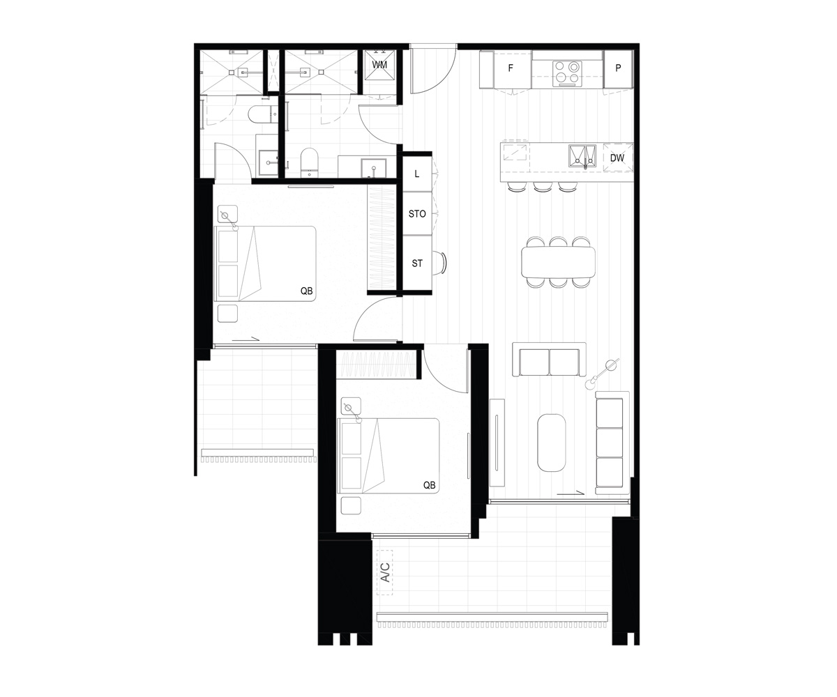 Hall Mason Sq Layout E Floorplan