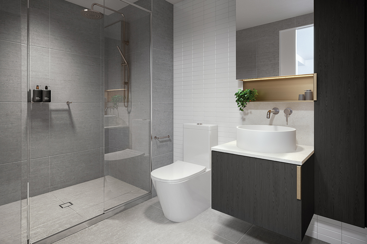 HOME Classic Bathroom Dark Render