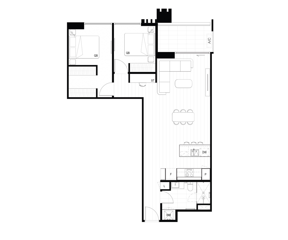Hall St Mason Sq Layout D Floorplan