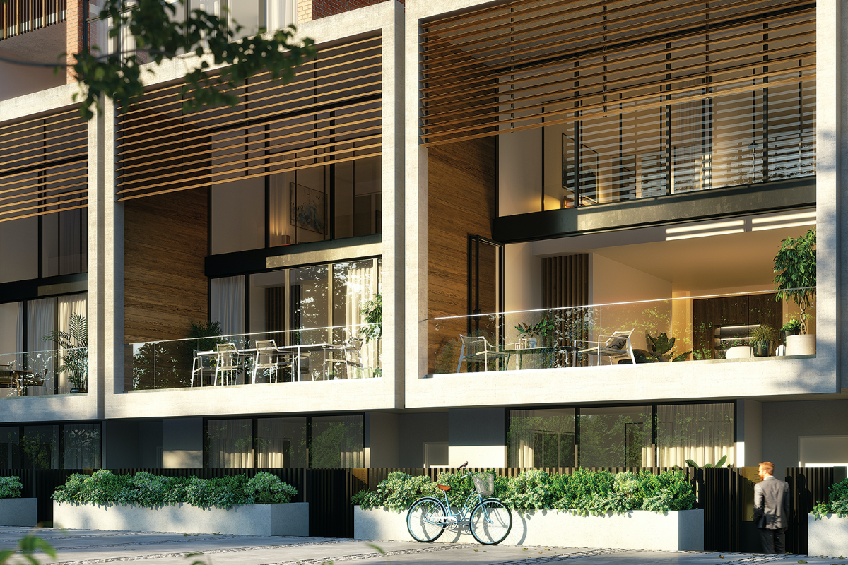 HOME By Caydon Render Binyan The Mews Terrace Homes External 1200x800