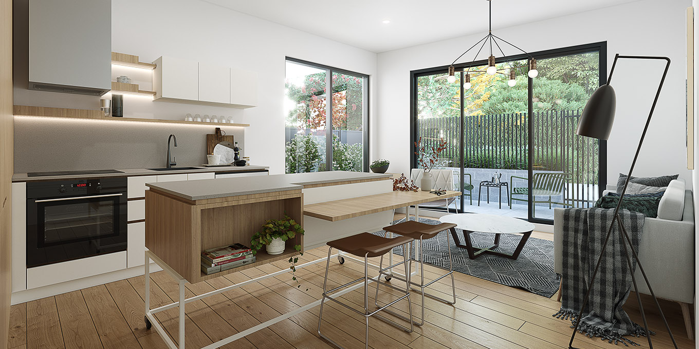 Verso apartment northcote living room interior design