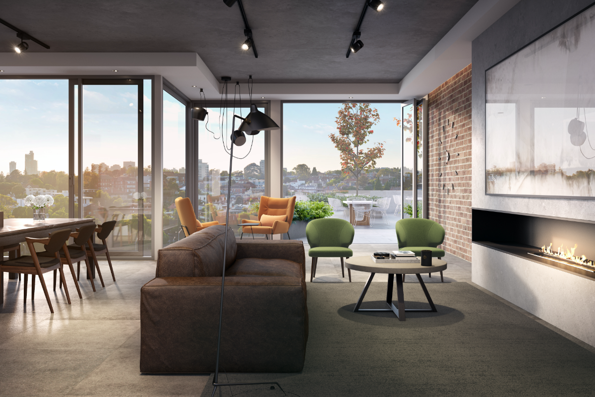 The Malt District Coppins Corner Amenity Rooftop Entertaining Area Render