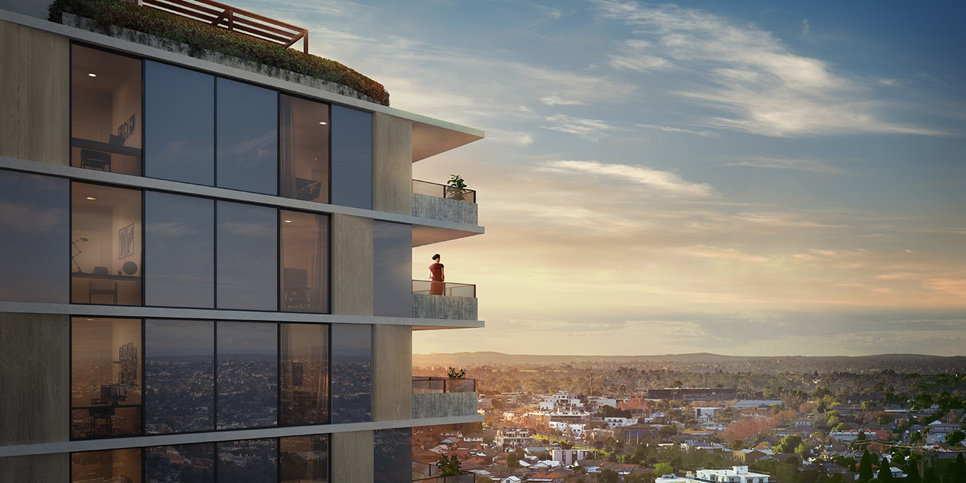 Focus on Mason Moonee Ponds building design with a view
