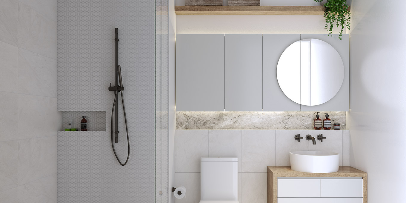 Ivanhoe Apartments bathroom design