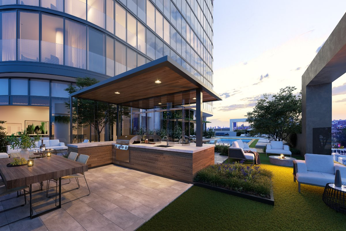 Laneways Fitzroy Residences Amenity BBQ Render FKD with art 1200x800