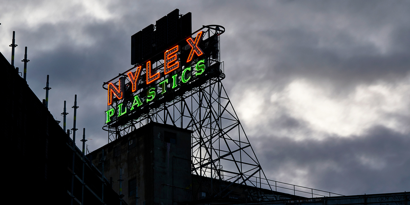 Nylex Sign Turned On Feb 18 for Testing
